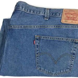 Levi's 550 Relaxed Fit Denim Cotton Jeans Sz 50x29